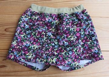 花柄巻きスカート風パンツ110