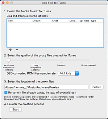 Add file to iTunes