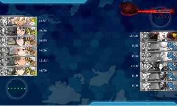 4-5-M ボス戦3戦目夜戦終了