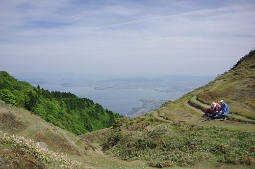 0157蓬莱山へ戻る時の琵琶湖