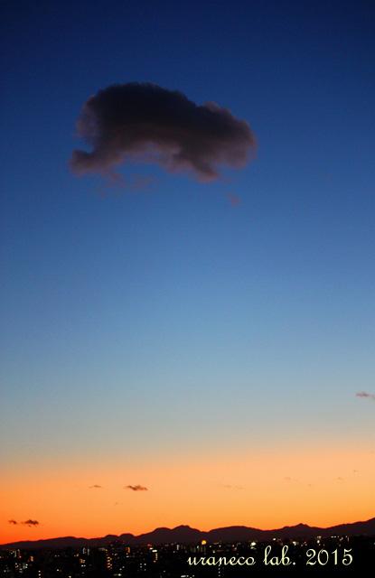 1月29日カピバラ雲