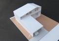 東泉町の家ラフ模型