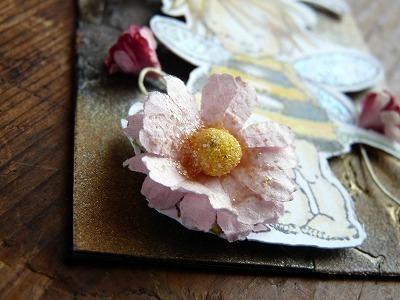 ATC 水彩色鉛筆 「蜜蜂のフェアリー」