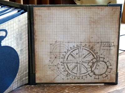 Steampunk Mini Book (ダイカット済みペーパー収納本)