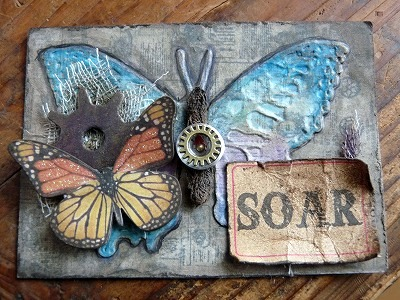 ATC (アーティストトレーディングカード)「蝶」