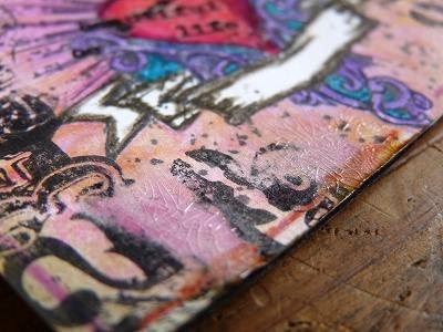 ATC(アーティストトレーディングカード「ハート」