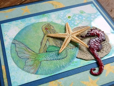 カードメイキング 「月夜の人魚」