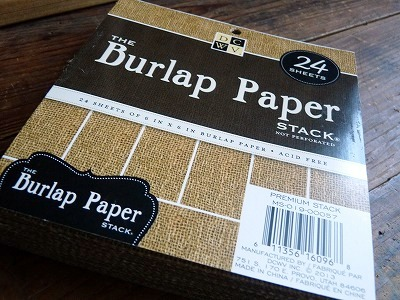 DCWV Burlap Covered Cardstock Stack