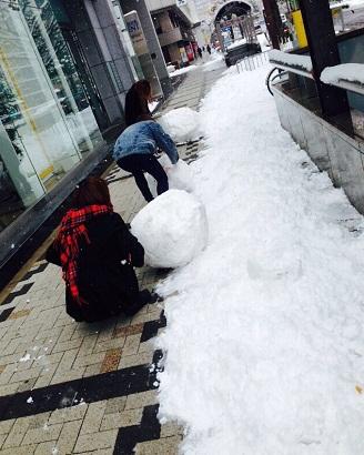 20141218 雪だるま