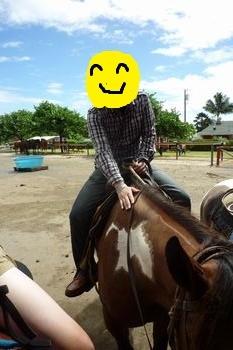 馬に乗る!