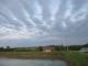 おかしな雲が東の空に