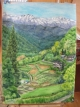 大岡温泉の風景画