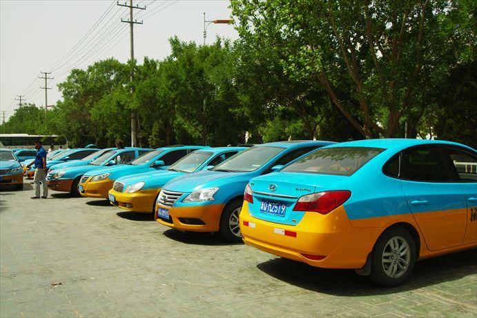 カシュガルのタクシー