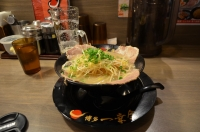 博多一幸舎のネギチャーシュー麺150209