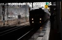 特急列車に敬礼150209