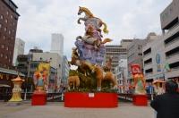 長崎中華街の馬オブジェ150211