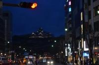 ライトアップされた熊本城150211
