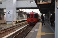 九州横断特急熊本駅入線150212