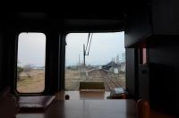 阿蘇駅が見えてきた150212