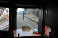 波野駅で九州横断特急交換①150212