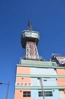 別府タワーを見あげる150213