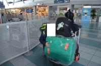 空港宅急便で送ったスーツケースも受け取り150213