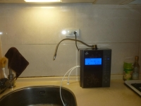 アルカリイオン浄水器設置完了150112