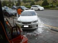洗車中150207