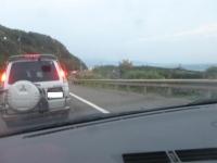 濱海公路は先のほうまで大渋滞150221