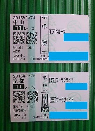 京成日経馬券