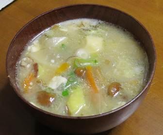 ベニハルカ入り味噌汁