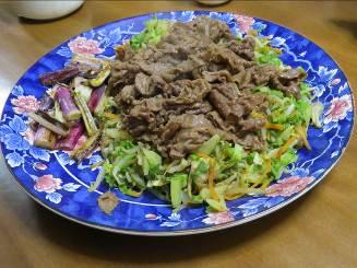 ハクラン炒めと肉炒め