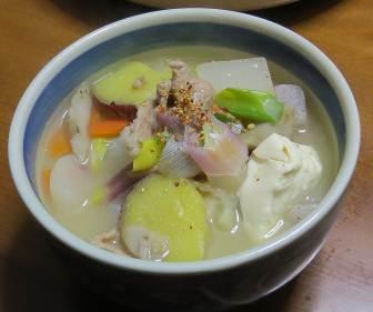 サツマイモ入りスープ