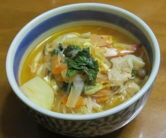 冬野菜を使ったキムチスープ