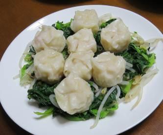 温野菜ターサイとシュウマイ