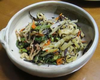 温野菜ニンジンとレンコン