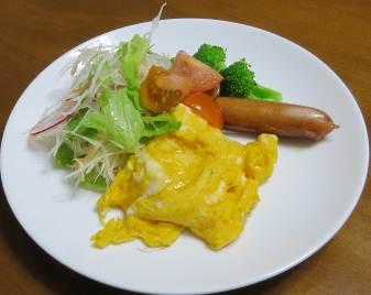 葉もの野菜と卵1