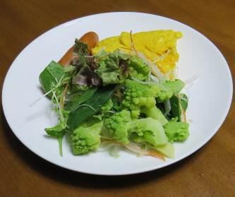 葉もの野菜と卵3