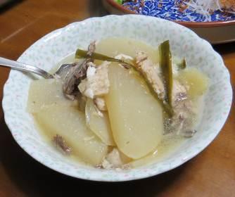 ダイコンと魚の煮物