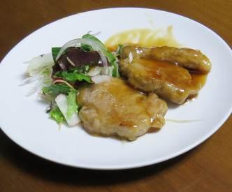 ブラ肉ステーキと野菜1