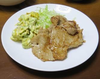 豚肉ステーキと野菜2