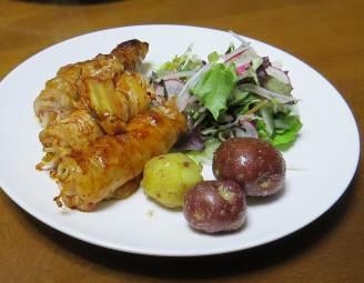 ジャガイモ料理、赤イモ利用