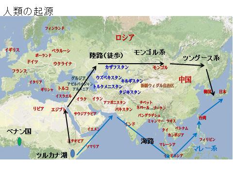 人類の起源と日本人のルーツ
