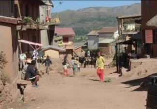 マダガスカルの田舎の町風景