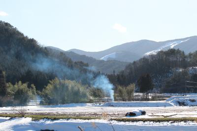 北広島 春の雪1
