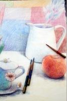 s色鉛筆画
