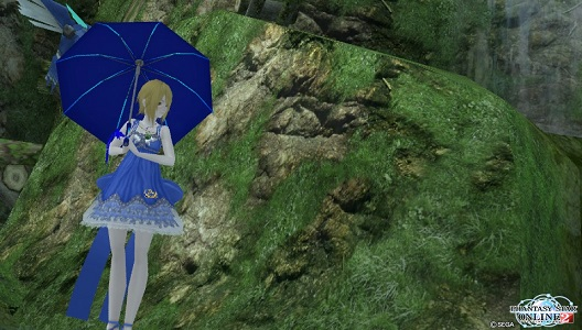雨雲は傘の下が初期位置です(