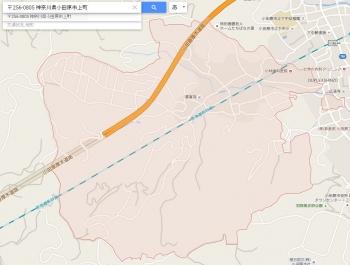 map神奈川県小田原市上町