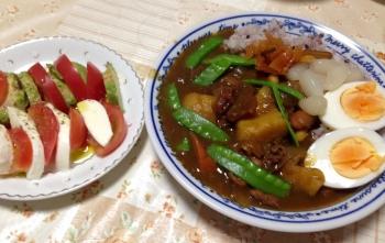 525夕食カレー
