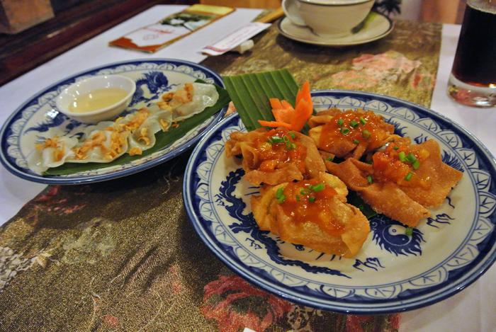 ダナン旅行記 その3 ナイト・ホイアン散策ツアー サクラレストラン 料理1